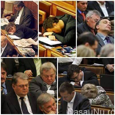 parlamentari care dorm